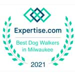 Best dog walker in Milwaukee badge