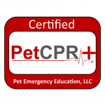 Logo showing Pet CPR certified.