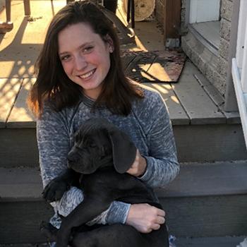 Gracie with dog